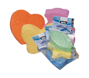 Kid's cellulose bath sponge, figures