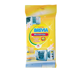 Brevia wet cleaning wipes - Microwave