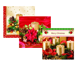 Aha Christmas design napkins 3-ply 100% cellulose